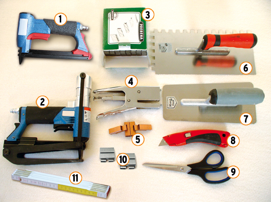 Necessary tools for the installation of Cuprotect®